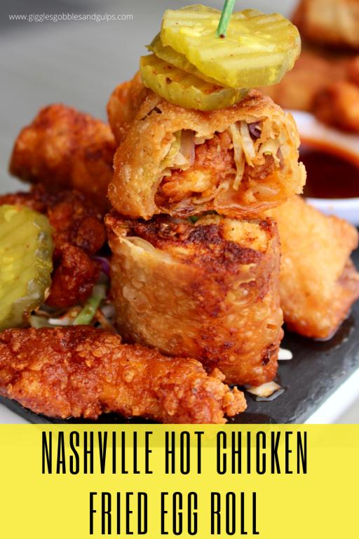 Nashville Hot Chicken Fried Egg Rolls
