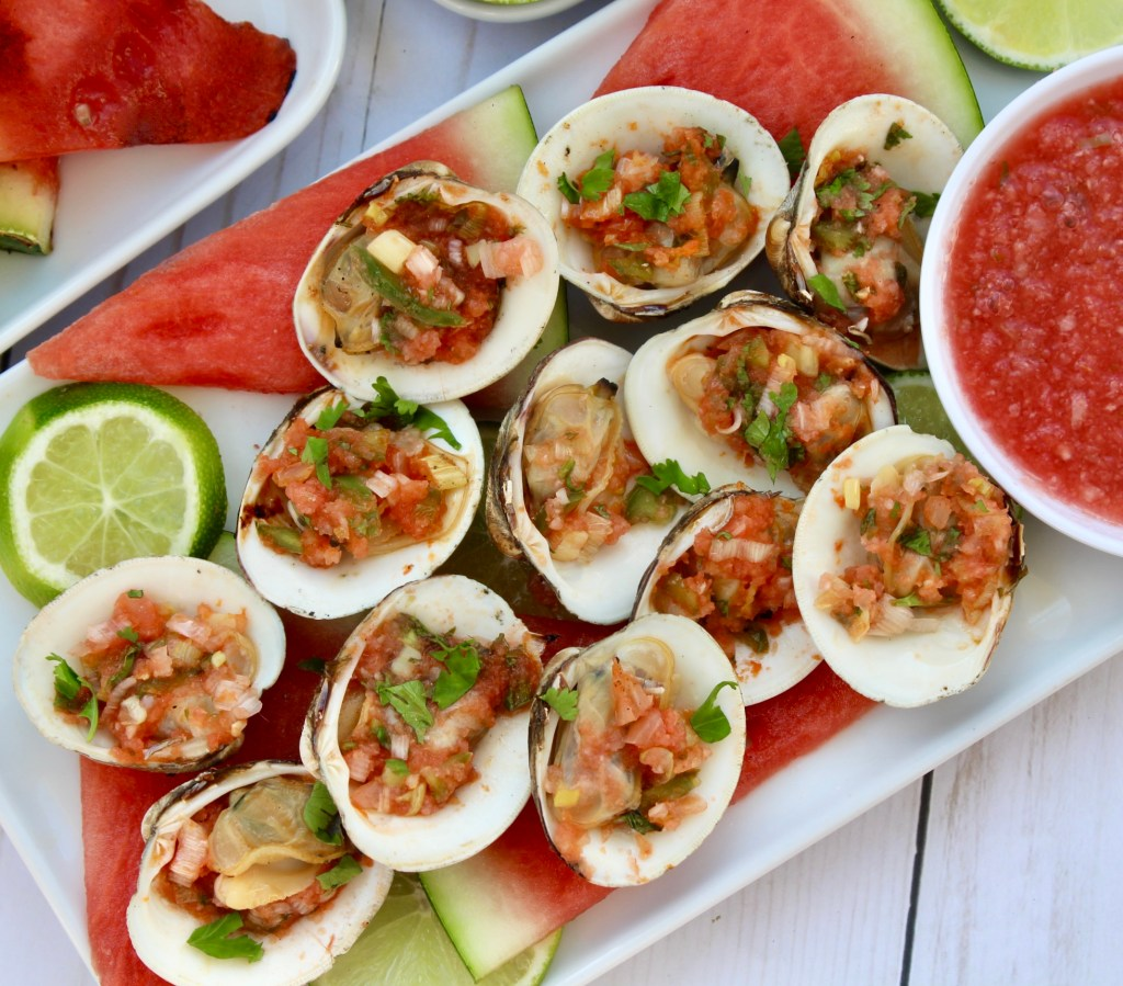 marinated grilled littleneck clams