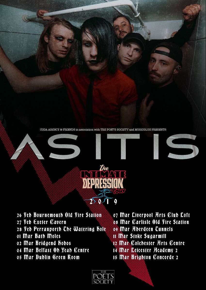 As It Is Intimate Depression Tour 2019