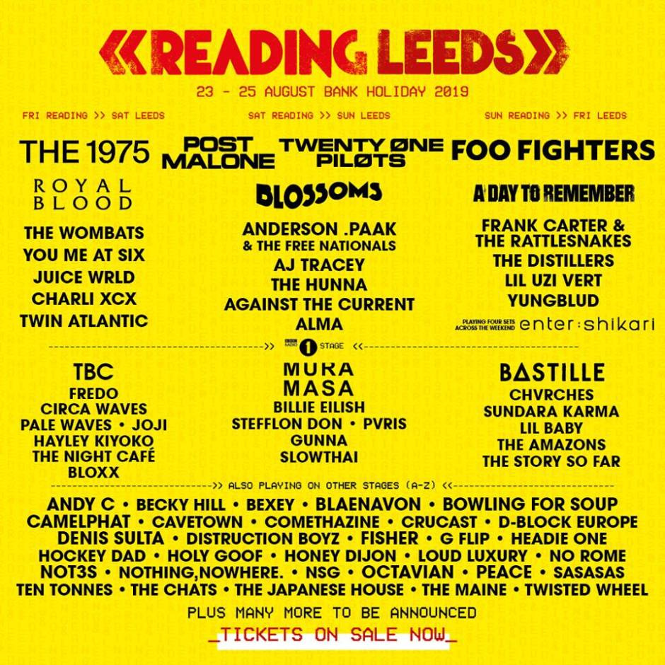 Reading and Leeds 2019 - 2nd poster
