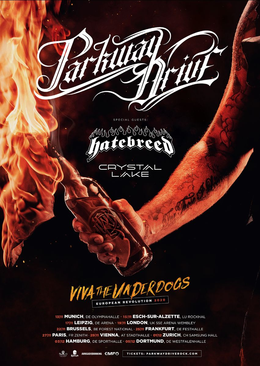Parkway Drive Viva The Underdogs 2020 Tour
