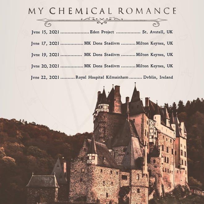 My Chemical Romance UK Tour 2021