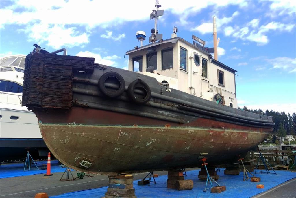 Old Tug Surveyed For New Owner Gig Harbor Marina Boatyard