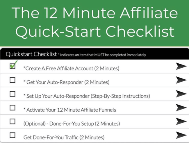 12 Minute Affiliate Review Checklist