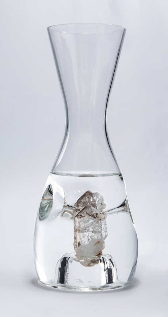 Wasserkaraffe mit Bergkristall