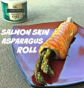 Salmon Skin Asparagus Roll by GiGi Eats Celebrities