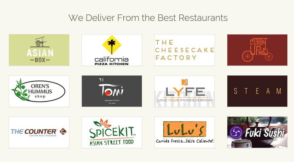 Restaurants for the DoorDash Promo Code