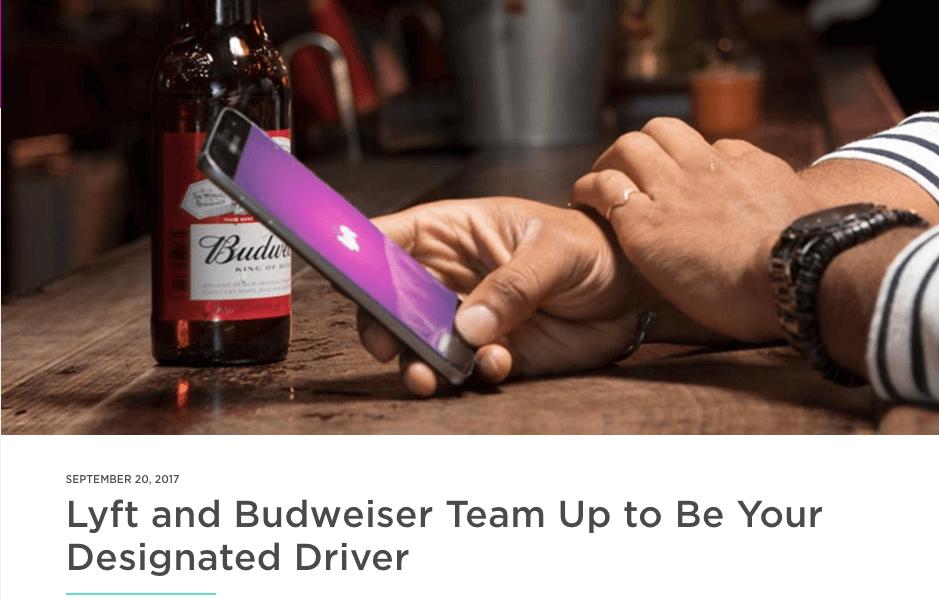 Lyft Budweister Promotion Blog Post