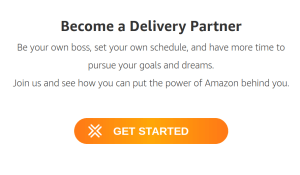 Amazon Flex driver signup process