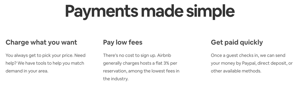 Airbnb - charge what you want and get paid quickly