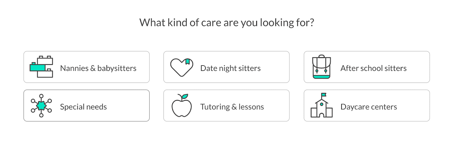 Everything You Need to Know About the Care.com Tutor Service: Select type of care