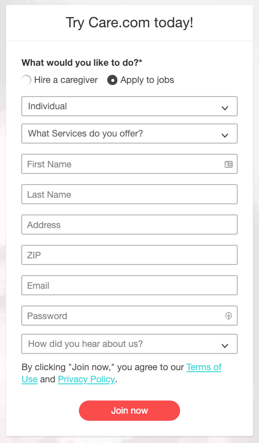 Care.com Tutor Service