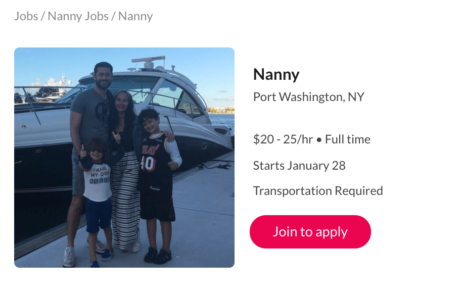 How to List or Apply to Care.com Nanny Jobs: Updated for 2019 - Sample posting