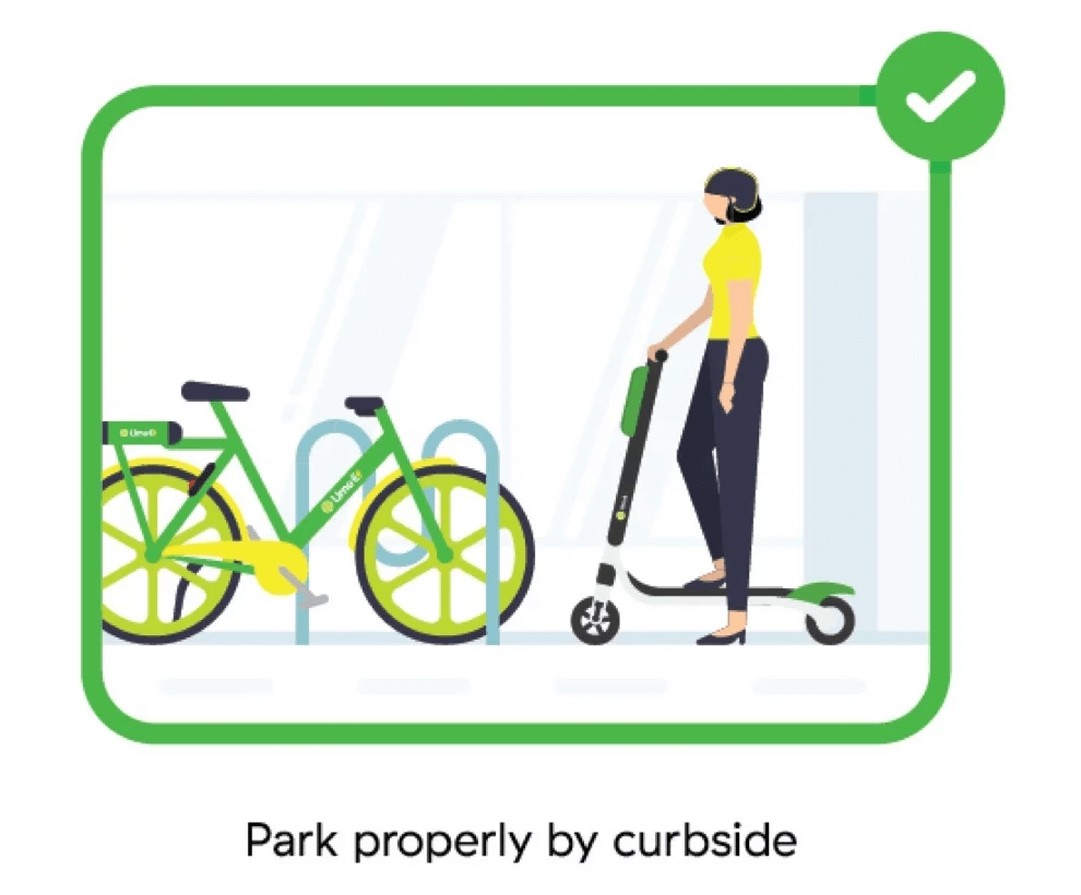Lime Scooters: Everything You Need to Know Before Renting - Park properly