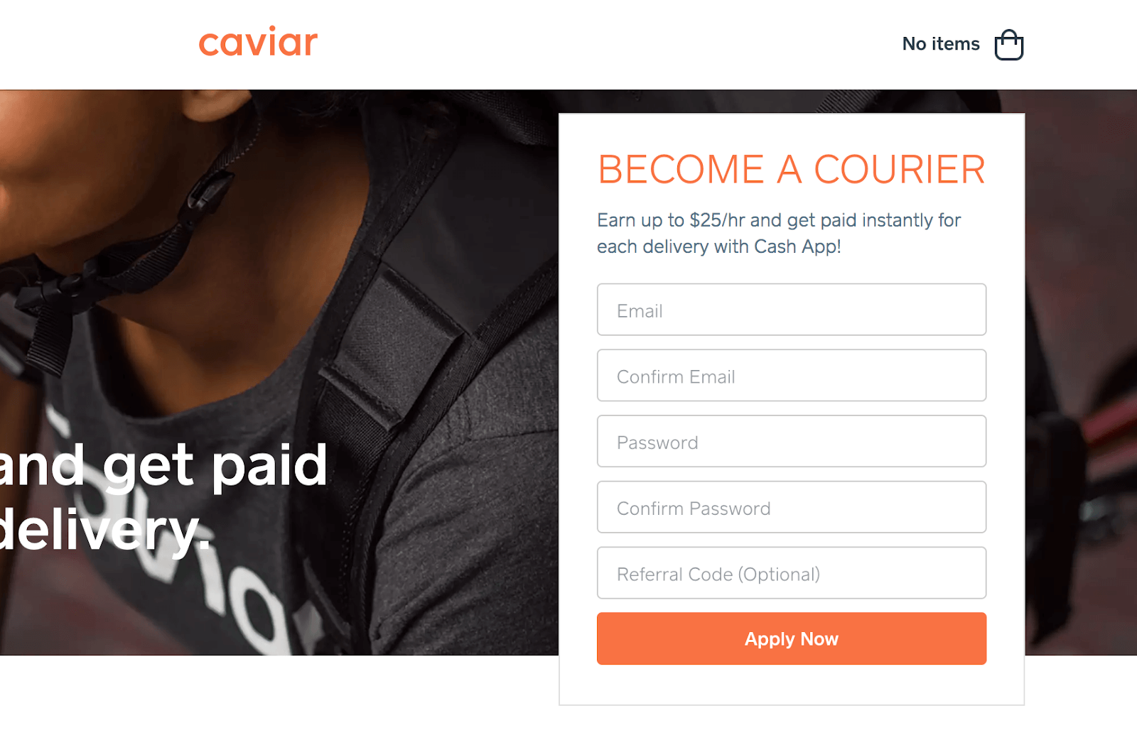 Become a Caviar Courier: Application