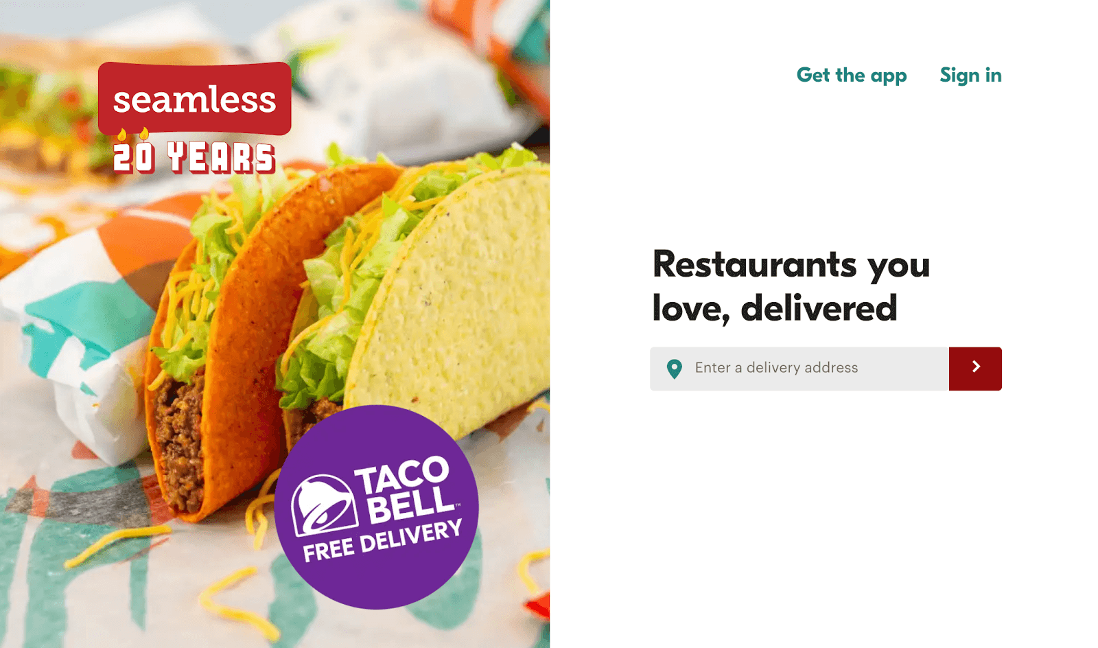 Fast Food Delivery: Seamless homepage
