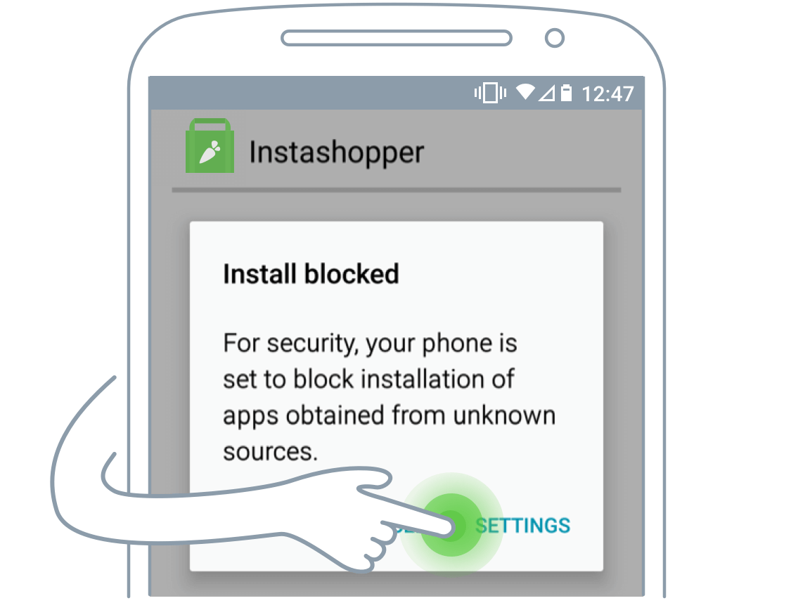 Instacart driver app Android step 2
