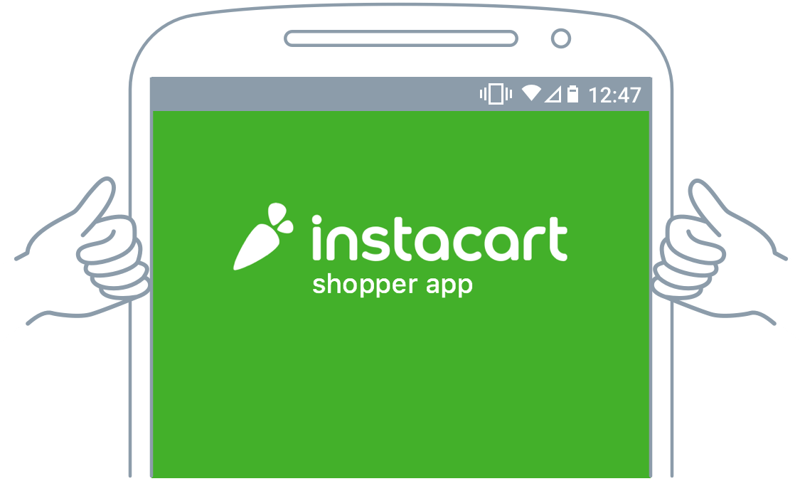Instacart driver app Android step 7