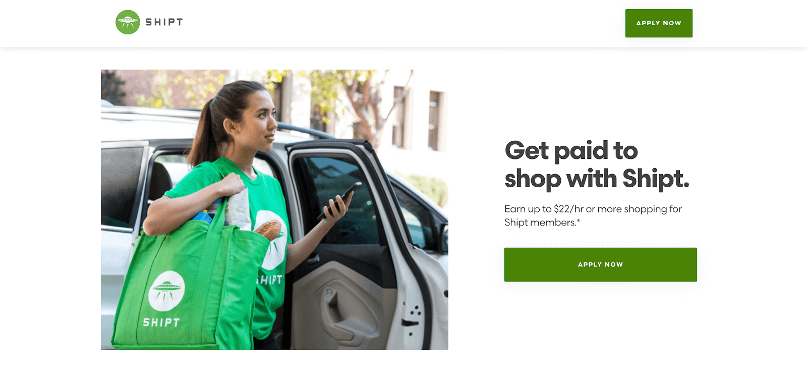 Shipt shopper: the webpage to apply to be a shopper