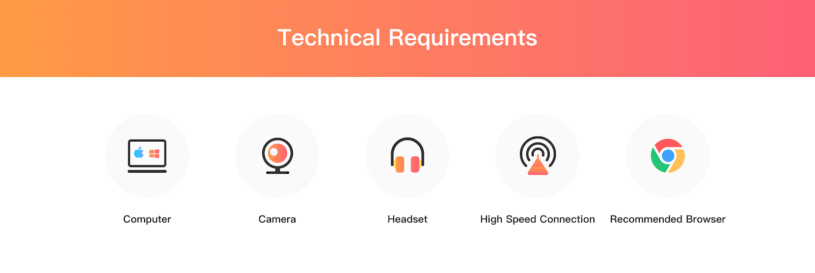 Gogokid: teacher technical requirements on their webpage