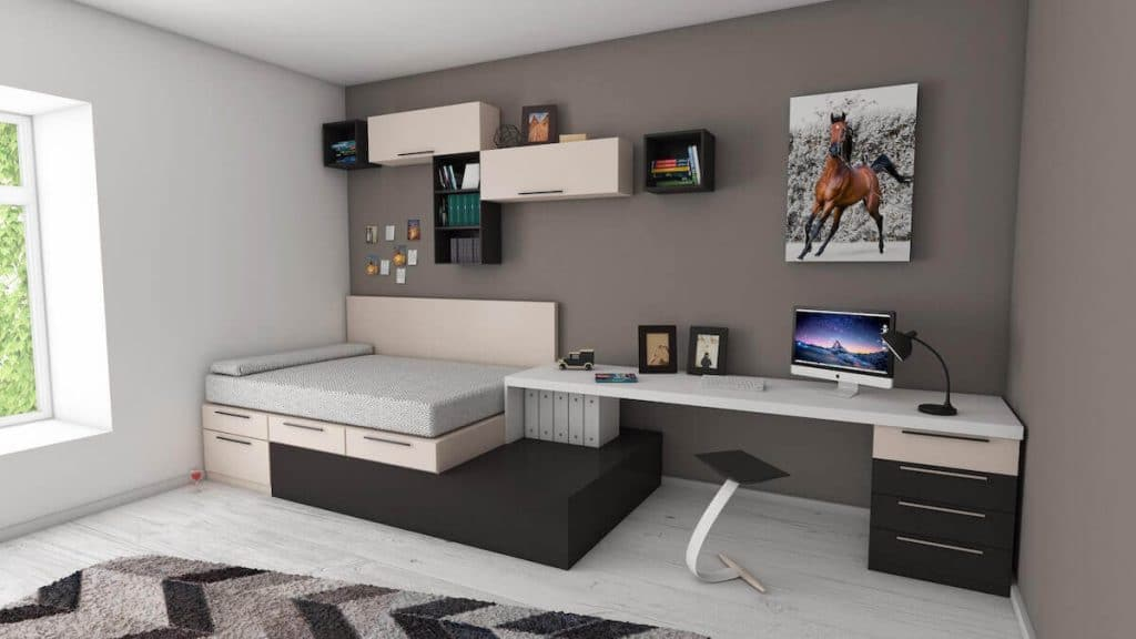 Home office bed