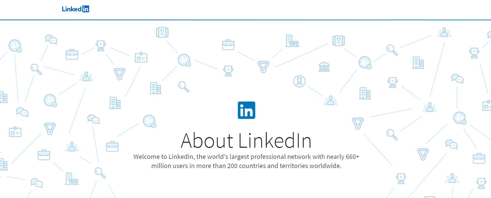 screenshot of LinkedIn website