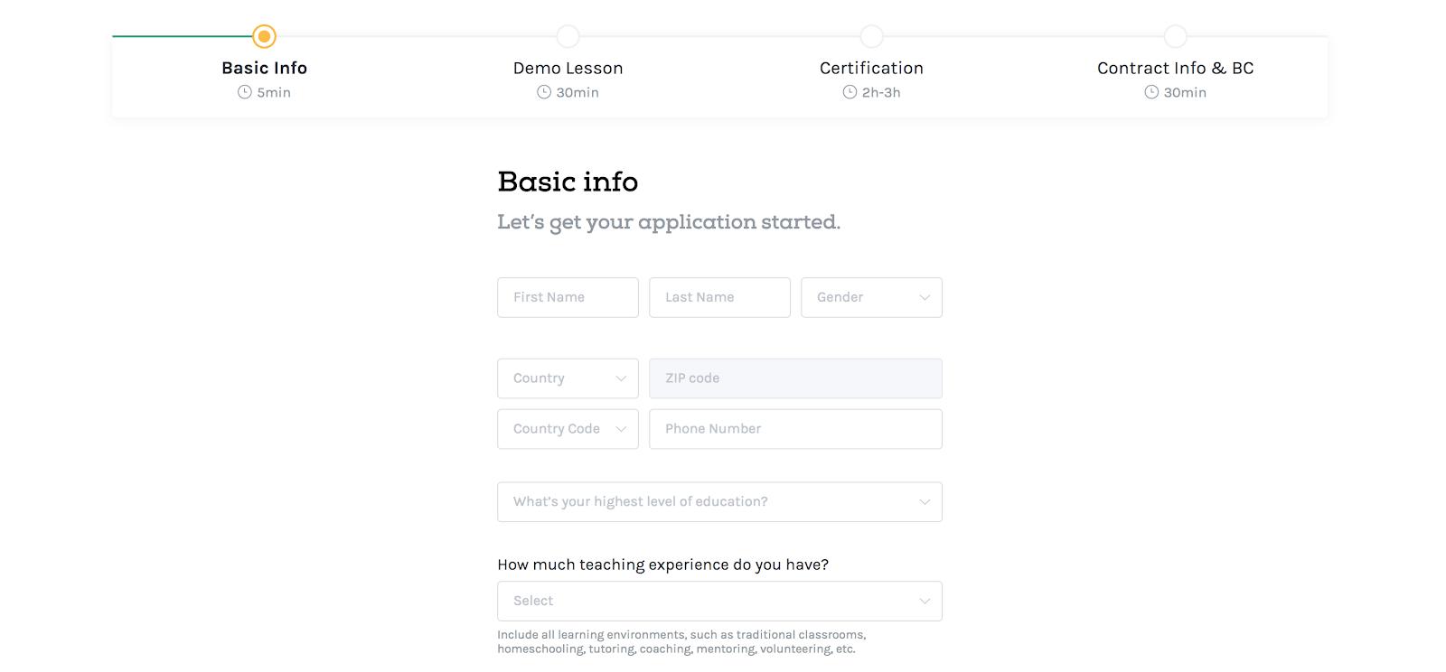 VIPKid application online