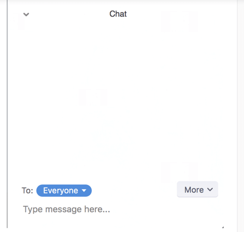 Sending a private chat