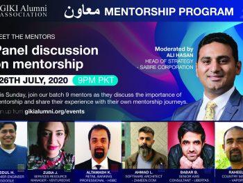 "[Webinar] ""Panel discussion on Mentorship"" by Muawin Mentorship Program | GIKI Alumni Association"