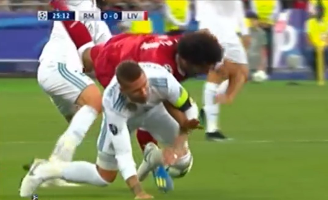 Mohamed Salah - Sergio Ramos, Real Madrid vs Liverpool