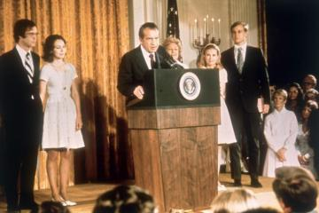 Richard M Nixon resigns the Presidency