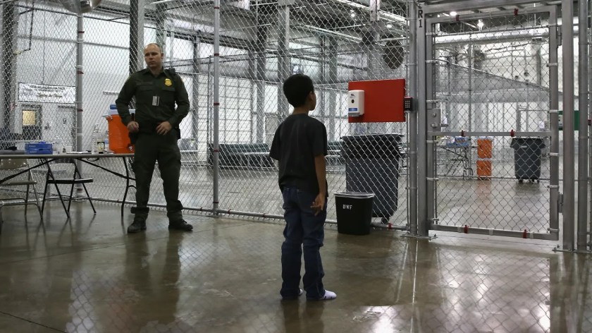 Little Boy In Cage At Trumps Border