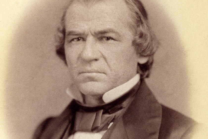 President Lincoln's successor Andrew Johnson