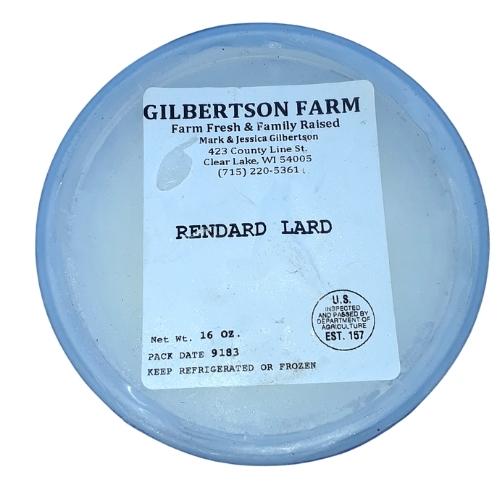 Gilbertson Farm Pork Lard