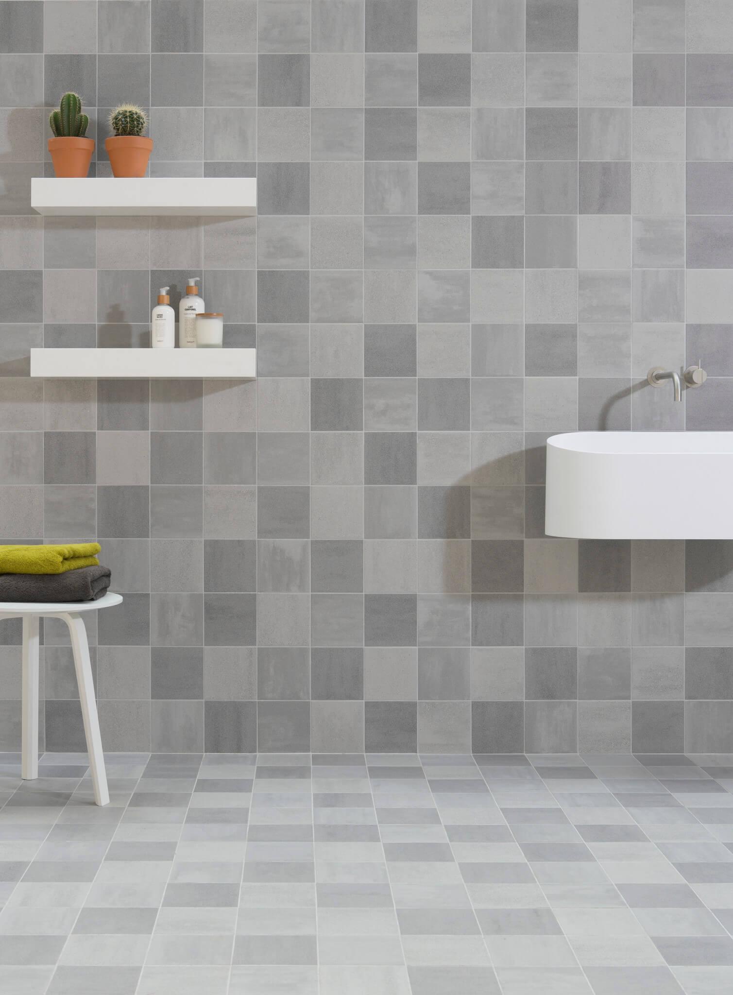 Badkamer Tegels Grijs.Badkamer Tegels Mozaiek
