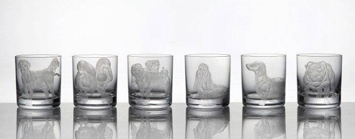 Dog Collection Double Old Fashioned in Clear Crystal