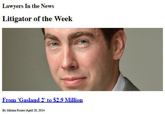 Brad Gilde - Litigator of the Week