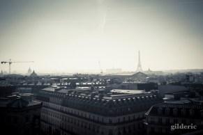 Panorama de Paris (Tour Eiffel et Grands Boulevards depuis les Galeries Lafayette) - Photo : Gilderic