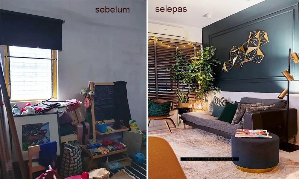 Wanita Ini Makeover Rumah 600sqft Berkonsepkan Modern Contemporary Memang Cantik Giler Deco