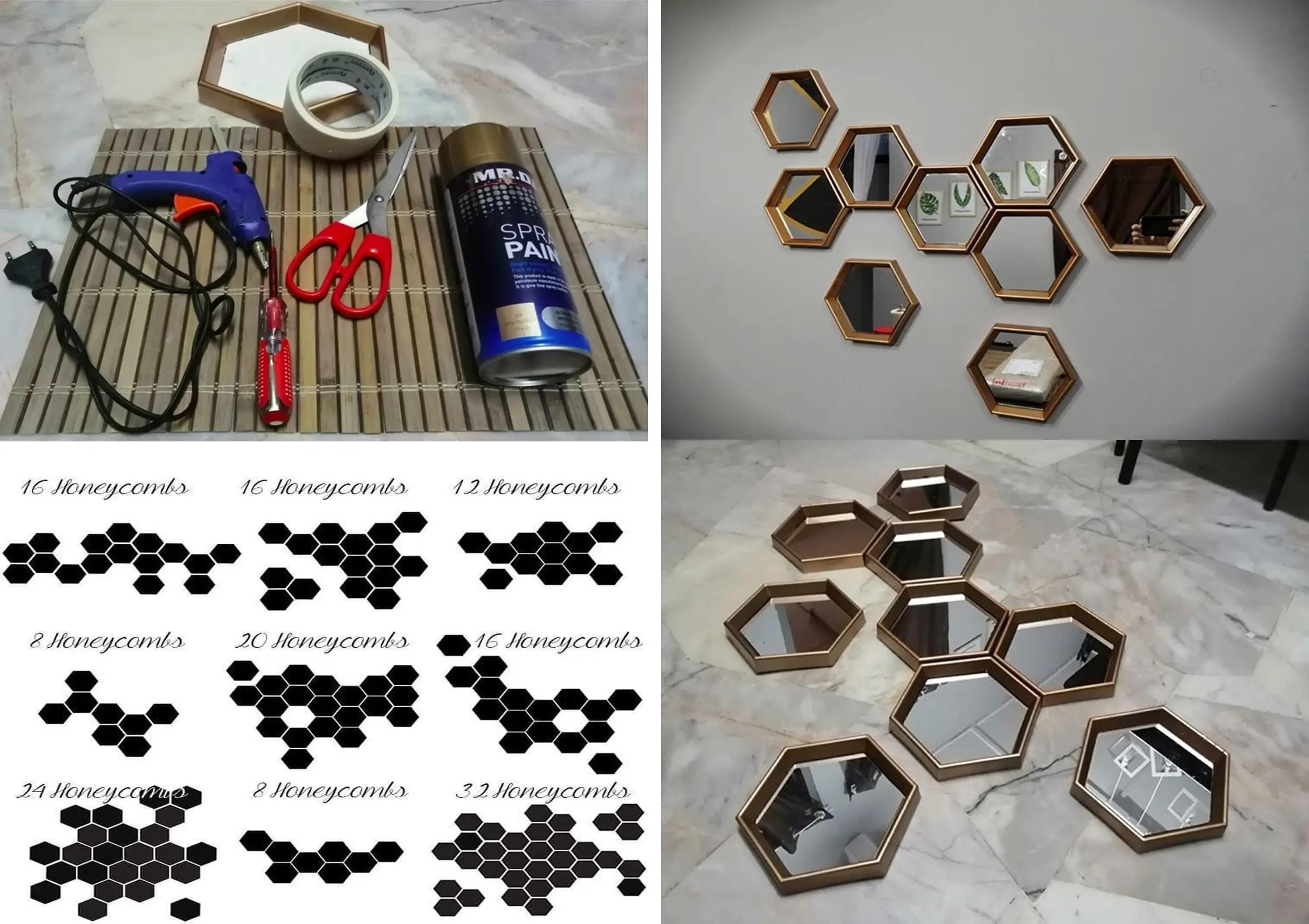 Cermin Hexagon Viral