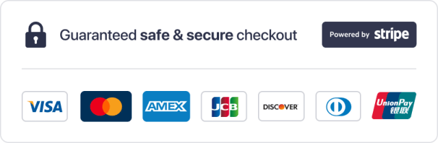 Secure payments - powered by Stripe