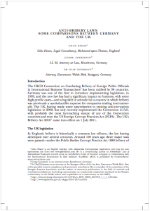Anti Bribery Laws in Germany and the UK