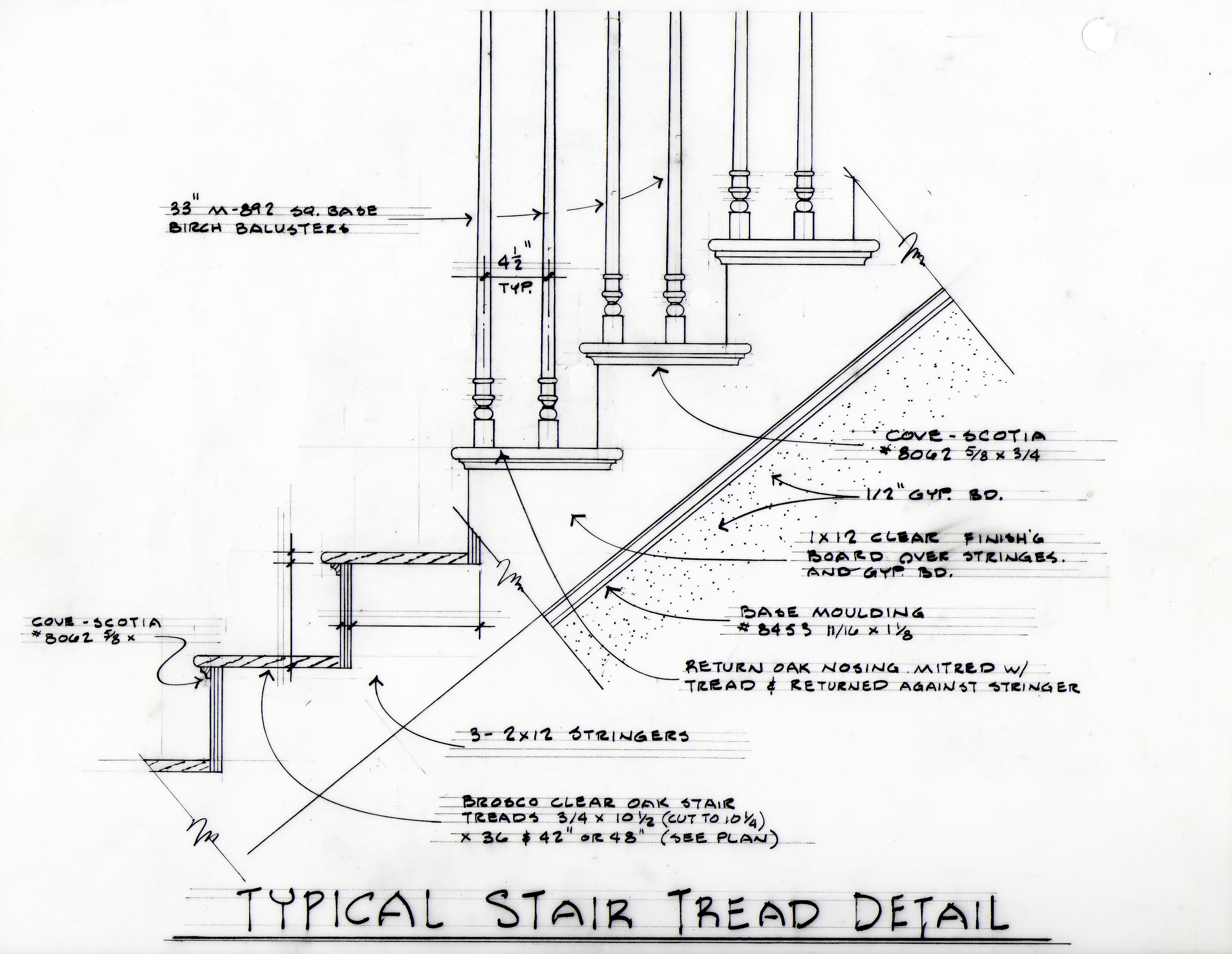 Typical Stair Tread Detail