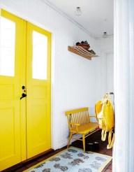 yellow-white-hallway via Hus & Hem on Flickr