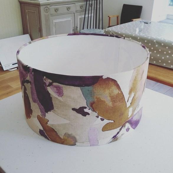 Large purple flower lampshade