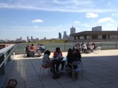 Lunch on the rooftop during MWGB @ IUPUI.