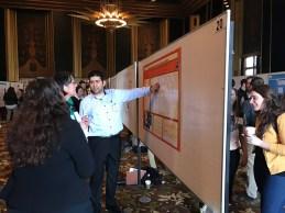 Fotis presenting his poster.