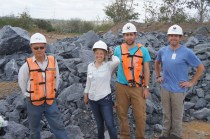 The team at a mine