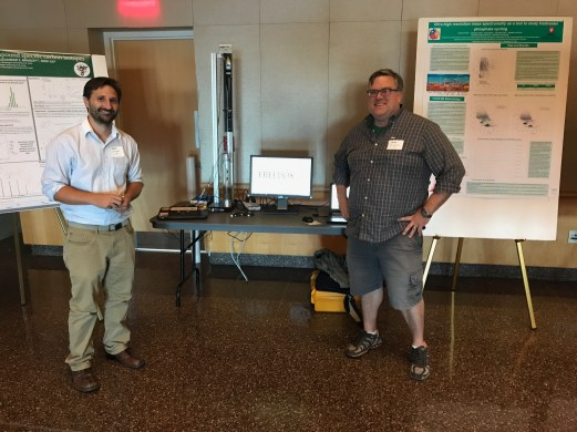 John (left) and Greg (right) presenting their voltammetry research.