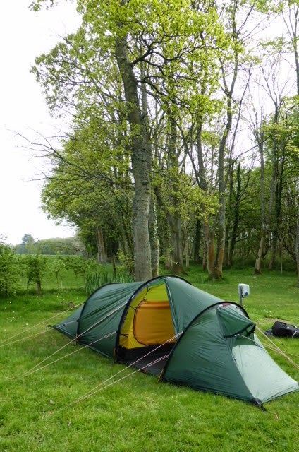Idyllic camp at Ravenglass